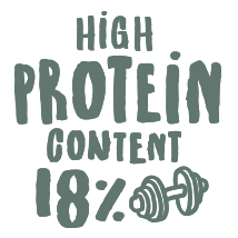 High Protein content 18%