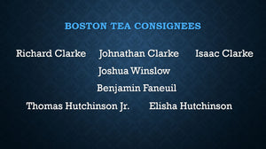 TEA TALKS: The Tea Consignees & The Loyalist Perspective OCTOBER 27, 2021