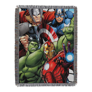 "Marvel's Avengers, ""Best Team"" Woven Tapestry Throw Blanket, 48"" x 60"", Multi Color"
