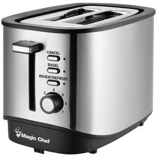 Magic Chef 2-Slice Stainless Steel Toaster with Bagel Function