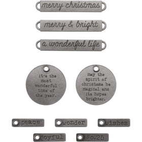 Tim Holtz Idea-ology - Christmas Words Adornments