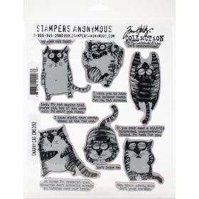 Tim Holtz Stamp Set - Snarky Cat