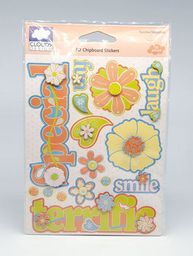 Cloud 9 Sunrise Smoothie 3D Chipboard Stickers