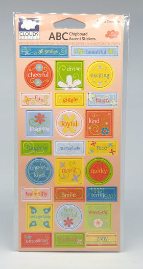Cloud 9 Sunrise Smoothie Chipboard Accent Stickers