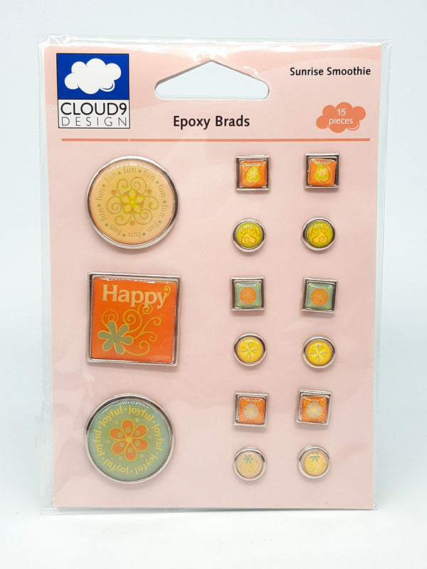 Cloud 9 Sunrise Smoothie Epoxy Brads