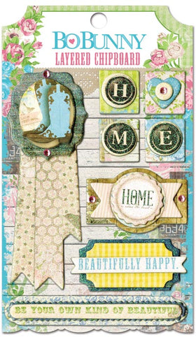 Bo Bunny Prairie Chic Collection - Layered Chipboard Stickers