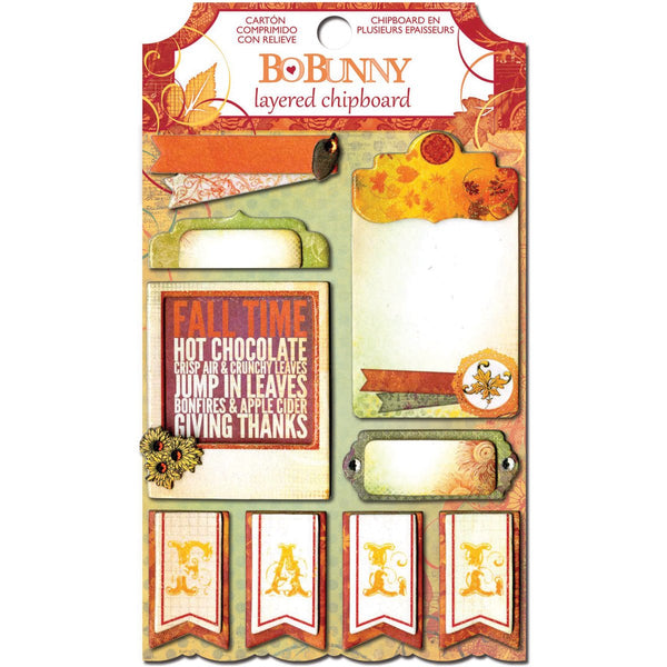 Bo Bunny Autumn Song Layered Chipboard