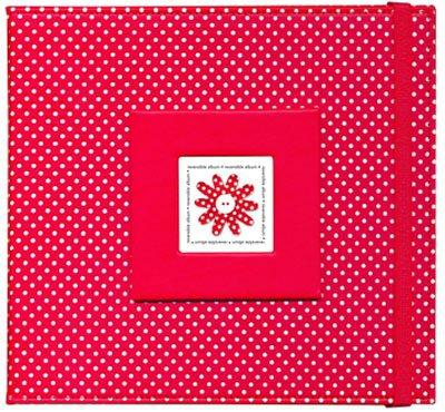 Doodlebug Reversible 8 x 8 Scrapbook Album - Lady Bug Polka Dot