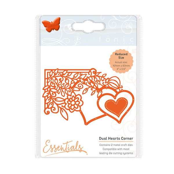 Tonic Studios Fanciful Floral Die Set - Dual Hearts Corner