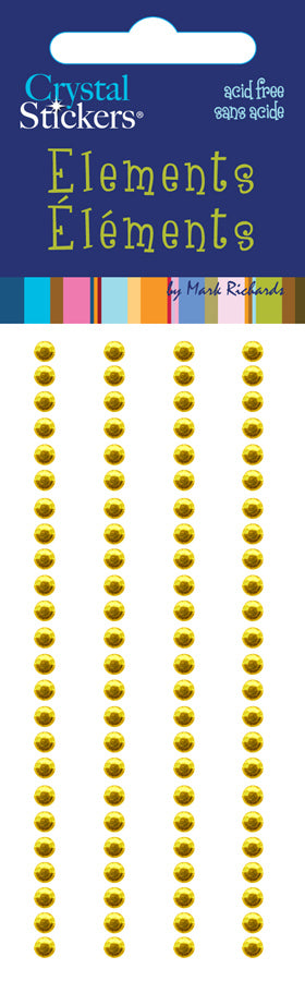 Rhinestones Stickers Round 3mm Yellow