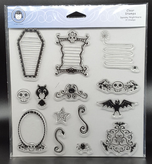 Lil' Davis Designs Clear Stamp Set - Spooky Nightmare
