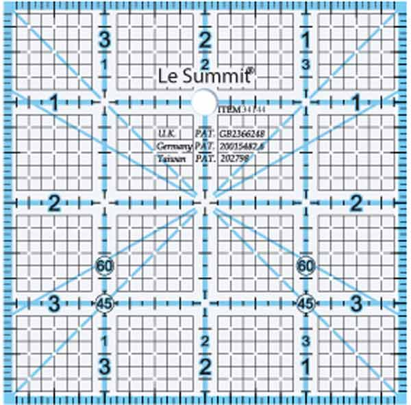 Le Summit Quilting Ruler - 4 x 4