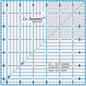 "Le Summit Quilting Ruler - 4.5"" x 4.5"""