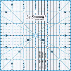 "Le Summit Quilting Ruler - 6"" x 6"""
