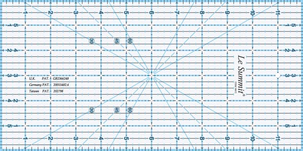 Le Summit Quilting Ruler - 4 x 12""