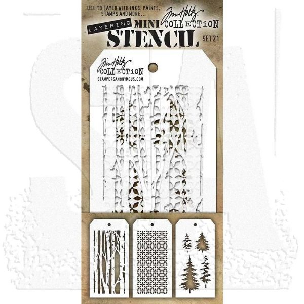 Tim Holtz Layering Stencil - Mini Stencil Set #22
