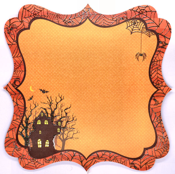 Best Creations Glitter Varnish & Die Cut Halloween Paper - Haunted House