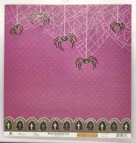 Best Creations Glitter Varnish Halloween Paper - Glittered Spider's Web