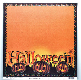 Best Creations Glitter Varnish Halloween Paper - Halloween