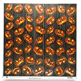 Best Creations Glitter Varnish Halloween Paper - Beware of Jack