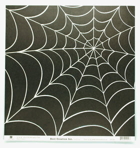 Best Creations Glitter Varnish Halloween Paper - Spiderweb