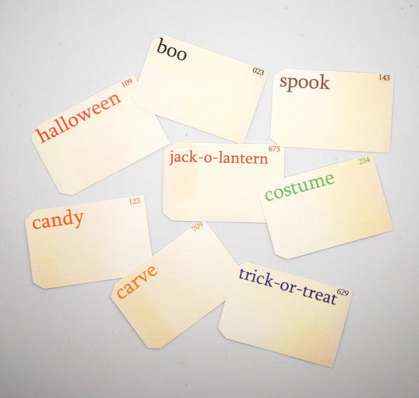 Shabby Chic Crafts Halloween Vintage Flashcards (8pk)