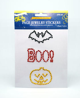 Little Yellow Bicycle Frightful Collection Page Jewellery Stickers