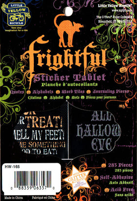 Little Yellow Bicycle Frightful Collection Sticker Tablet (283pk)