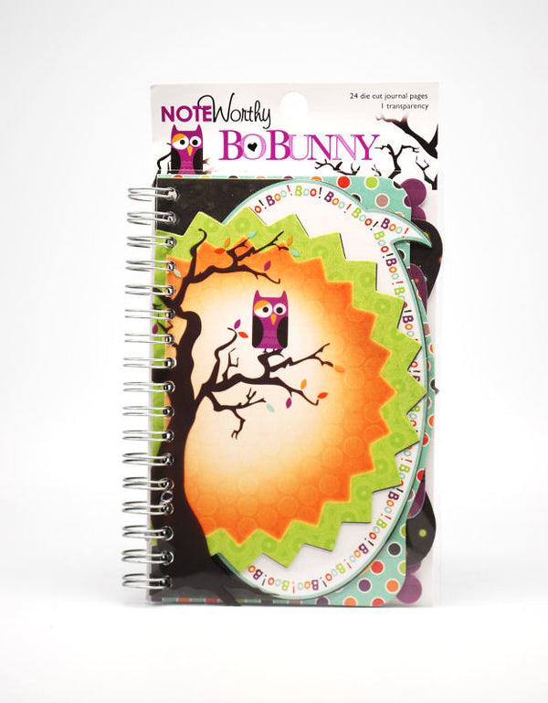 Bo Bunny Whoo-Ligans Noteworthy Spiral Bound Journaling Page Accents