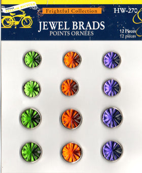 Little Yellow Bicycle Frightful Collection Jewel Brads (12pk)