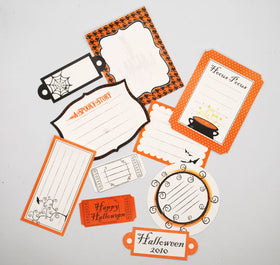 Shabby Chic Crafts Halloween Journaling Tags (10pk)