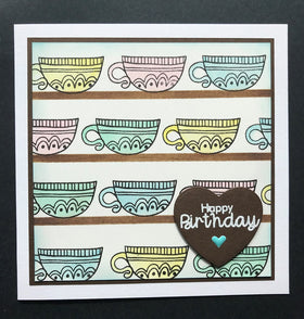 Funky Fossil - Time For Tea A6 Stamp Set