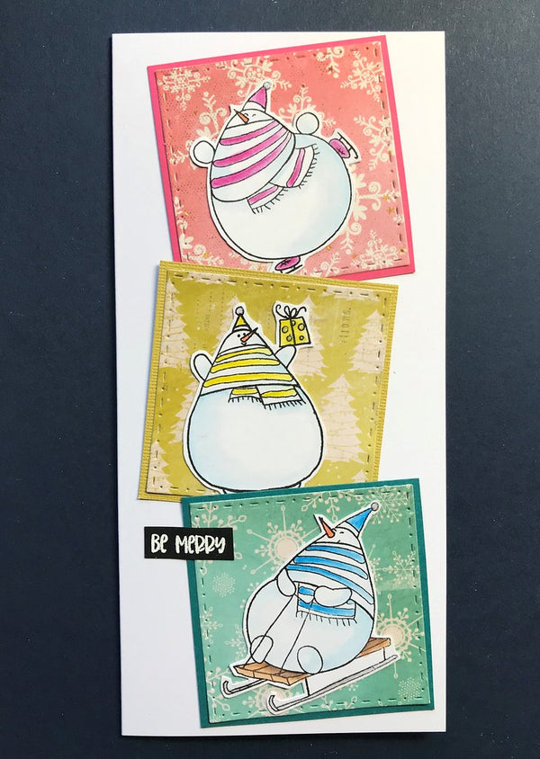 Funky Fossil - Silly Snowmen A6 Stamp Set