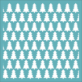 Funky Fossil Stencil - Christmas Tree Background