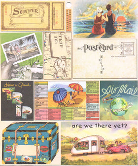 Heartwarming Vintage Creative Scraps - Travel