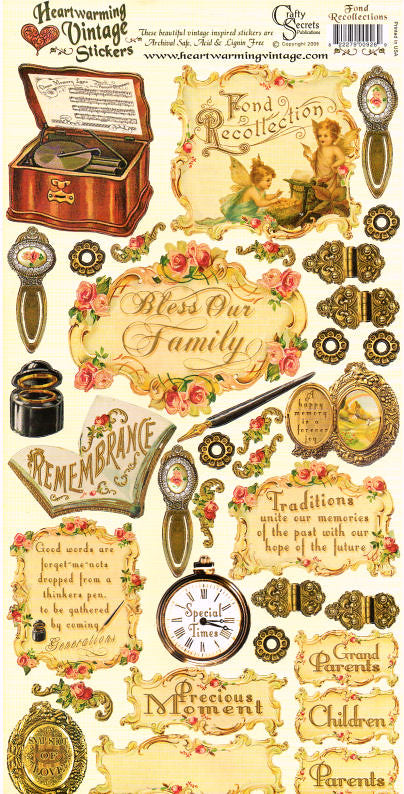 Heartwarming Vintage Stickers - Fond Recollections