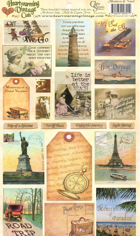 Heartwarming Vintage Stickers - Adventures & Travel