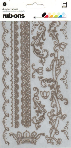 BasicGrey Porcelain - Champagne Rub-On Sheet (Brown)