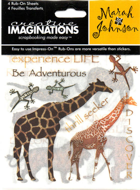 Creative Imaginations Untamed Safari 1 - Swatchpack Rub Ons