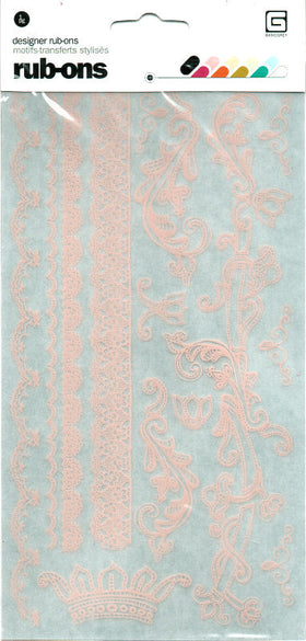 BasicGrey Porcelain - Champagne Rub-On Sheet - Pink