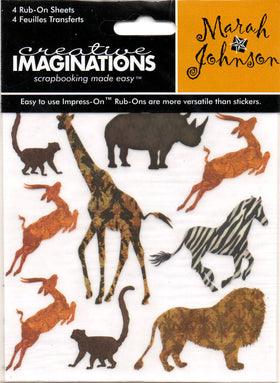 Creative Imaginations Untamed Safari 2 - Swatchpack Rub Ons
