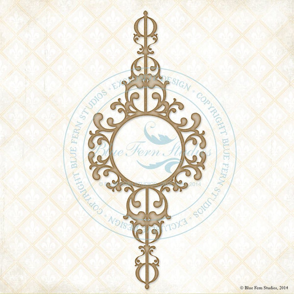 Blue Fern Studios Ornate Frame Chipboard