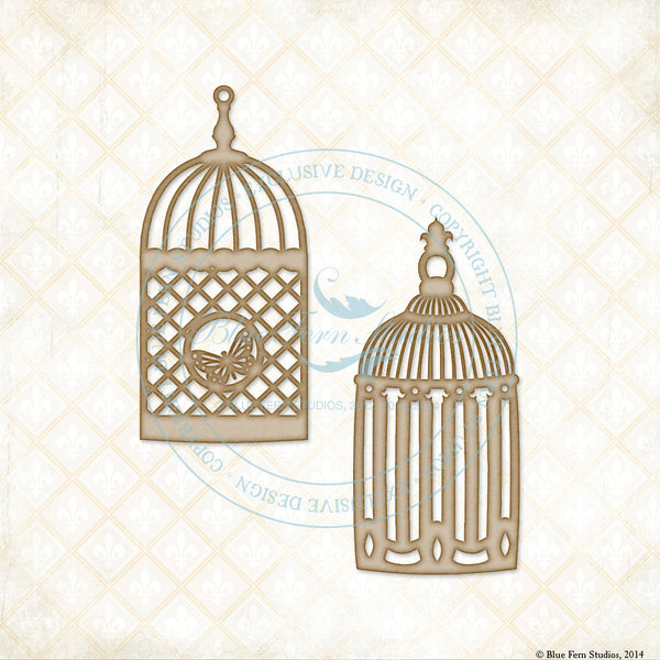 Blue Fern Studios Grande Cages Chipboard