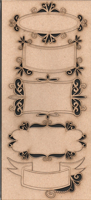 Dusty Attic Fancy Labels Chipboard Laser Cuts