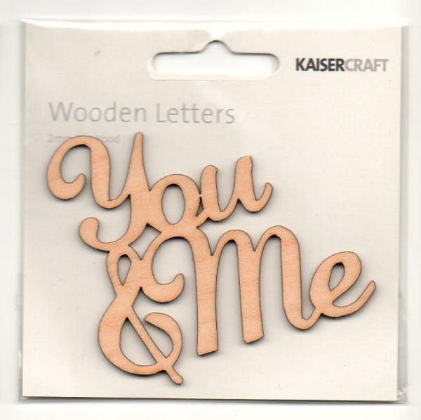 Kaisercraft Wooden Flourishes - You & Me