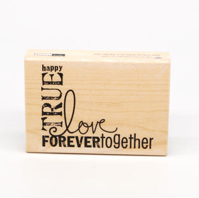 Forever Love Woodblock Mounted Stamp
