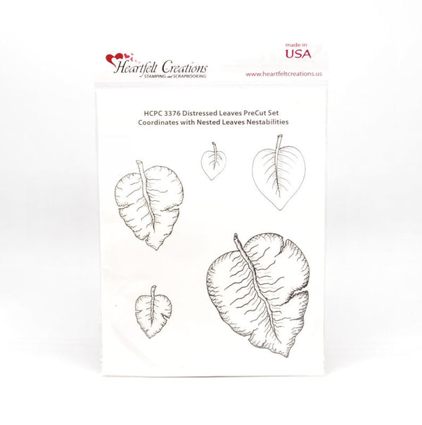 Distressed Leaves Self Cling Stamp Set