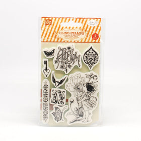 Prima Nature Garden Cling Stamps