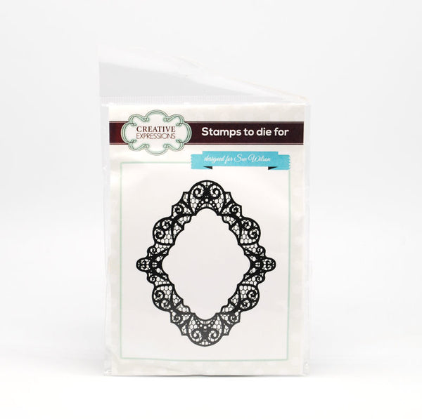 Creative Expressions Self Cling Rubber Stamp - Pacific Lace