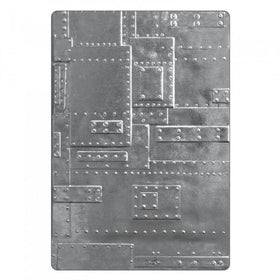 Sizzix 3-D Texture Fades Embossing Folder - Foundry by Tim Holtz
